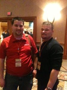 Victor Gaudioso and Joe McBride (my new tech editor) at MIX10